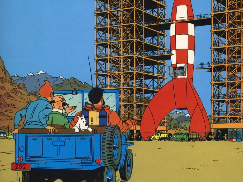 Fonds d'écran Tintin.